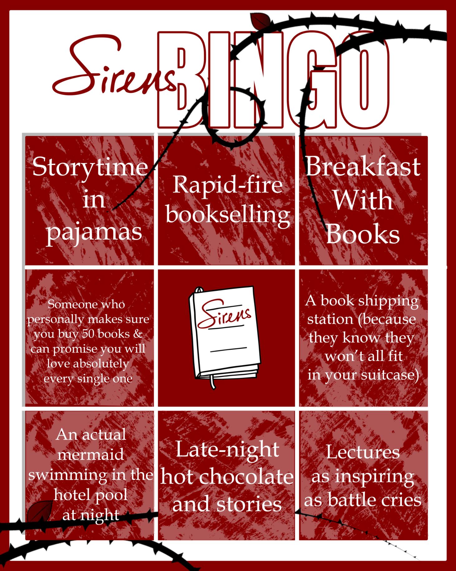 Sirens conference bingo